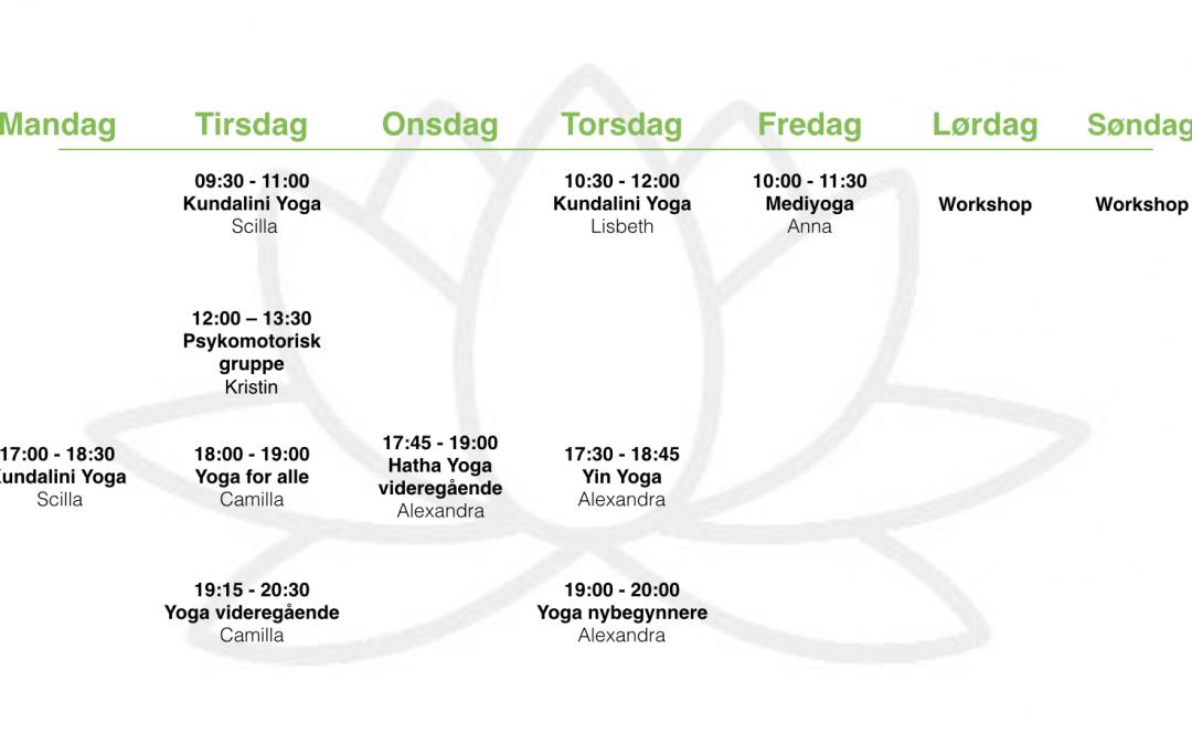 Vårens timeplan for Lotussenteret i Larvik