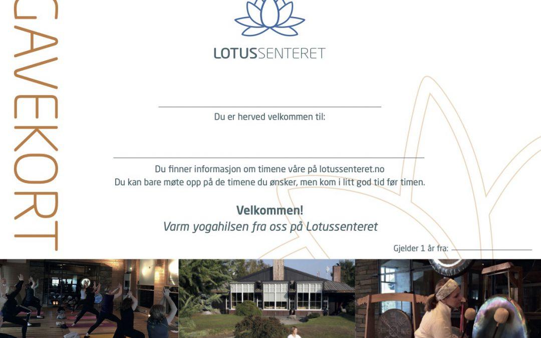Nyhet: Gavekort på yogakurs eller drop-in på Lotussenteret i Stavern/ Larvik